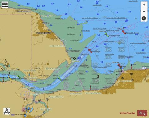 The Swale Whitstable to Harty Ferry Marine Chart - Nautical Charts App