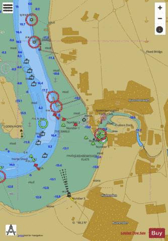 A  Queenborough Marine Chart - Nautical Charts App