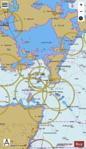 Southern Approaches to Scapa Flow Marine Chart - Nautical Charts App