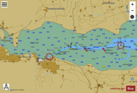 A Continuation of River Stour Marine Chart - Nautical Charts App