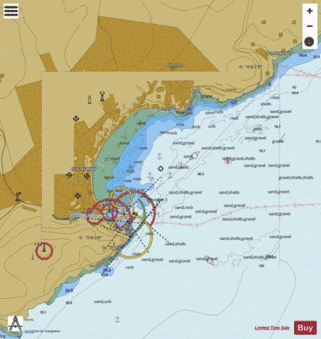 A  Douglas Bay Marine Chart - Nautical Charts App