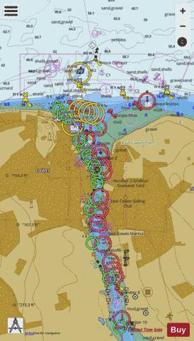 Cowes Harbour and River Medina Marine Chart - Nautical Charts App