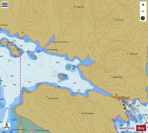 Continuation of West Loch Tarbert Marine Chart - Nautical Charts App