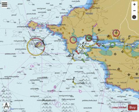 Approaches to Milford Haven Marine Chart - Nautical Charts App