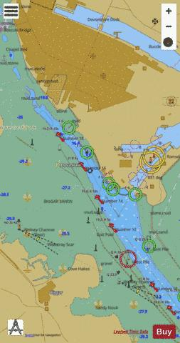 Deep Water Berth and Ramsden Dock Entrance Marine Chart - Nautical Charts App