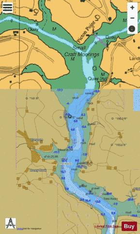 B  Continuation of River Cleddau Marine Chart - Nautical Charts App