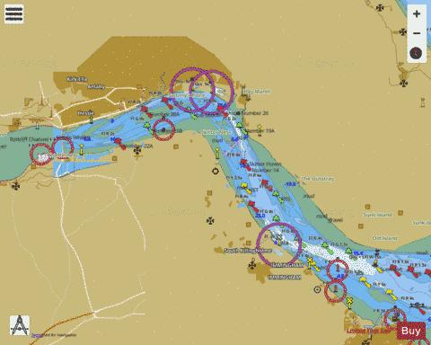 River Humber  Immingham to Humber Bridge and the Rivers Ouse and Trent Marine Chart - Nautical Charts App