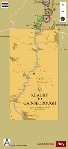 C Keadby to Gainsborough Marine Chart - Nautical Charts App