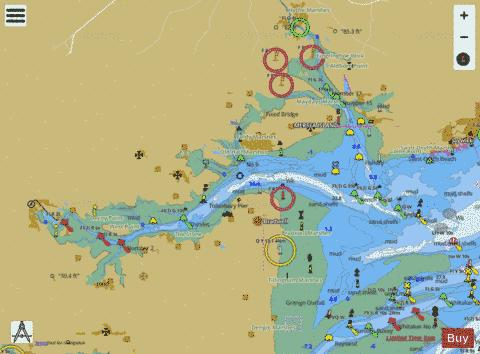 Rivers Colne and Blackwater Marine Chart - Nautical Charts App