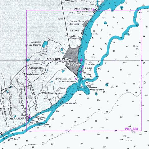 B  Approaches to Mar del Plata Marine Chart - Nautical Charts App
