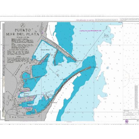 A Puerto Mar del Plata Marine Chart AR05314 Nautical Charts App