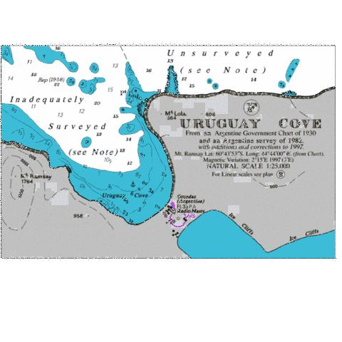 Uruguay Cove Marine Chart - Nautical Charts App