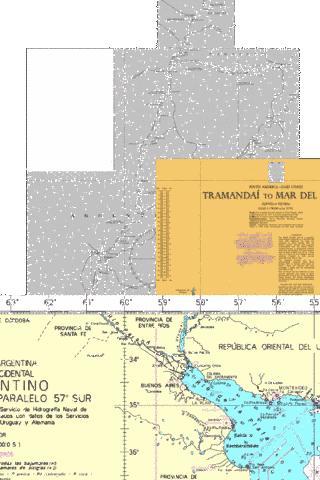 Rivers Uruguay Parana And Paraguay Marine Chart AR - Argentina map rivers
