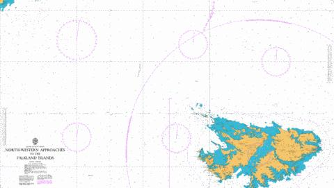North-Western Approaches to the Falkland Islands Marine Chart - Nautical Charts App