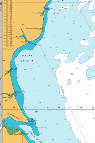 Puerto San Julian to Estrecho de Magallanes Marine Chart - Nautical Charts App