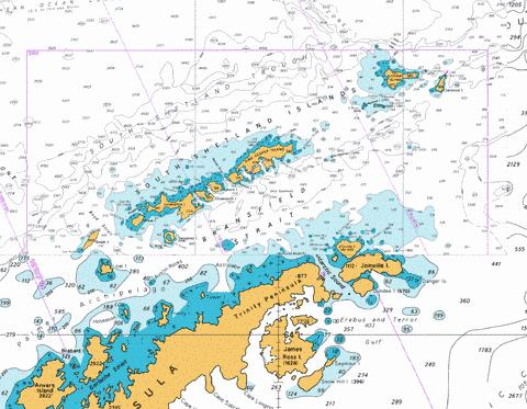 South Shetland Islands and Bransfield Strait Marine Chart - Nautical Charts App