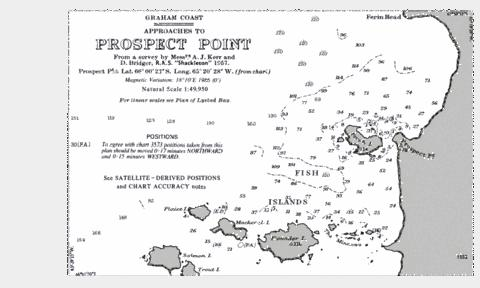 Approaches to Prospect Point Marine Chart - Nautical Charts App