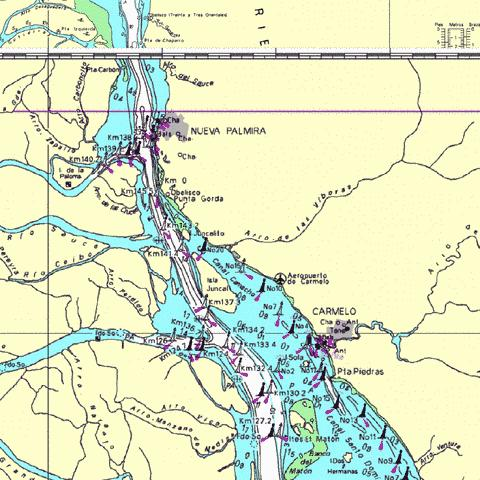 A Continuation to Nueva Palmira Marine Chart - Nautical Charts App
