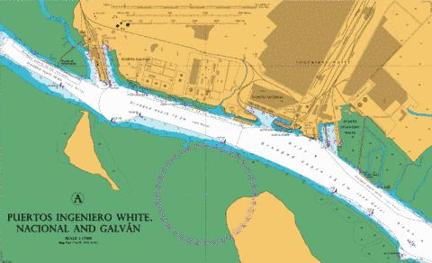 A  Puertos Ingeniero White- Nacional and Galvan Marine Chart - Nautical Charts App