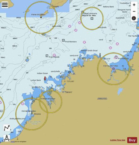 Australia - Indonesia - Timor Sea (Marine Chart