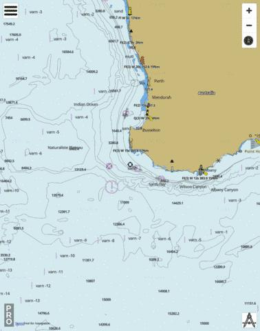 Australia - Jurien Bay to Albany Marine Chart - Nautical Charts App