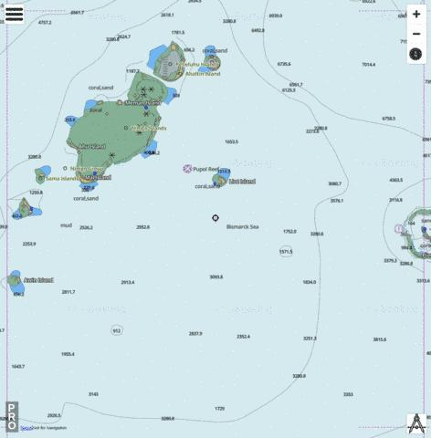 Bismarck Sea - Ninigo Group Marine Chart - Nautical Charts App