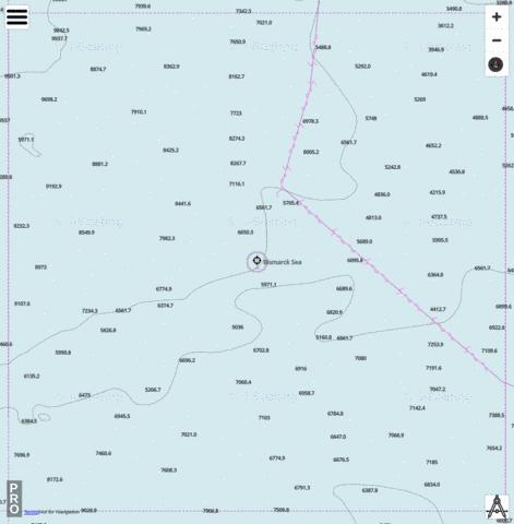 Bismarck Sea - Cell 10 Marine Chart - Nautical Charts App