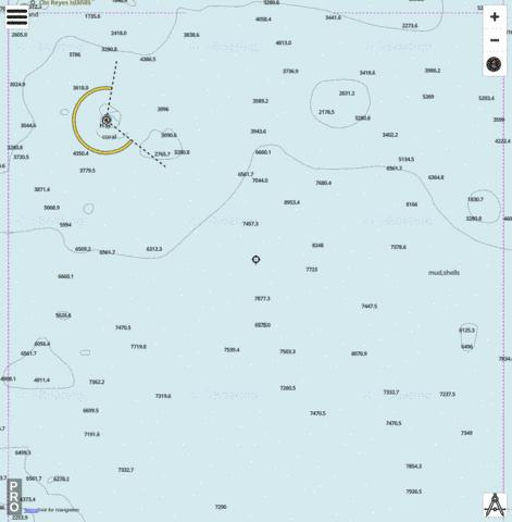 Bismarck Sea - Cell 12 (Nauna Island) Marine Chart - Nautical Charts App