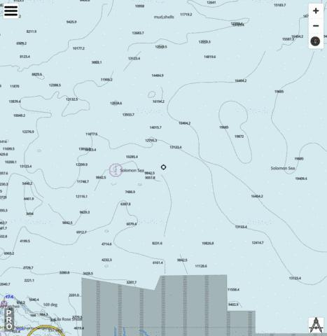 Solomon Sea - Cell 11 Marine Chart - Nautical Charts App
