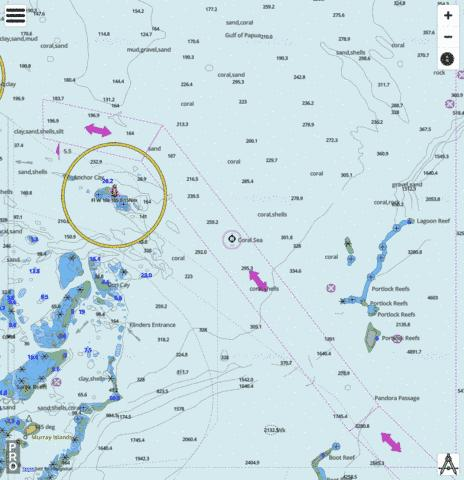 Coral Sea - Cell 1 (Eastern Approaches to Great North East Channel) Marine Chart - Nautical Charts App
