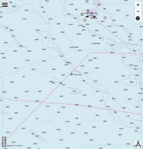 Timor Sea - Cell 6 Marine Chart - Nautical Charts App