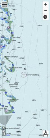Great Barrier Reef - Eastern Approaches to Raine Island Entrance Marine Chart - Nautical Charts App