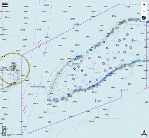 Coral Sea - Diamond Passage Including Lihou Reef (Marine Chart