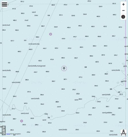 Indian Ocean - Cell 10 Marine Chart - Nautical Charts App