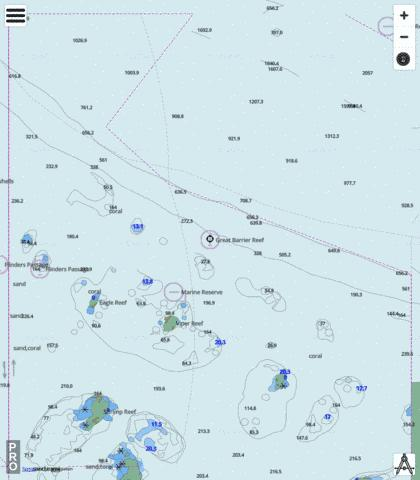 Coral Sea - Approaches to Flinders Passage Marine Chart - Nautical Charts App