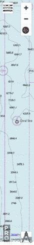 AU328154 - Coral Sea - Queensland Seamount West Marine Chart - Nautical Charts App