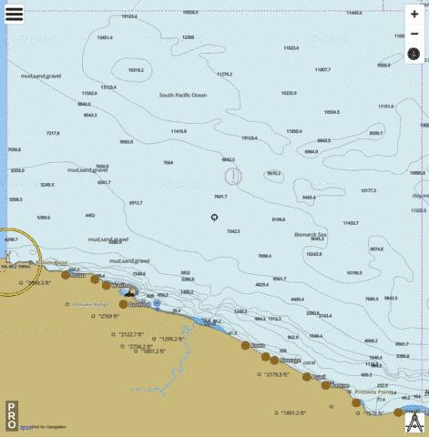 Bismarck Sea - Baudissan Point to Bougainville Bay Marine Chart - Nautical Charts App