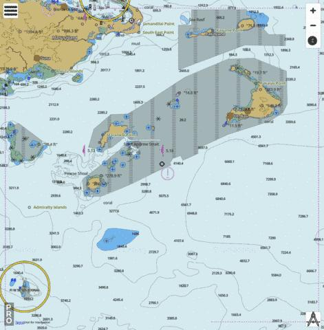 Bismarck Sea - South East Approach to Manus Island Marine Chart - Nautical Charts App