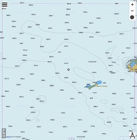 Bismarck Sea - Western Approach to Lavongai Marine Chart - Nautical Charts App