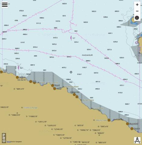 Bismarck Sea - Eastern Approach to Madang Marine Chart - Nautical Charts App