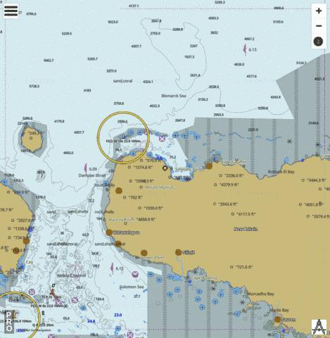 Bismarck Sea - Cape Raoult To Dampier Strait Marine Chart - Nautical Charts App