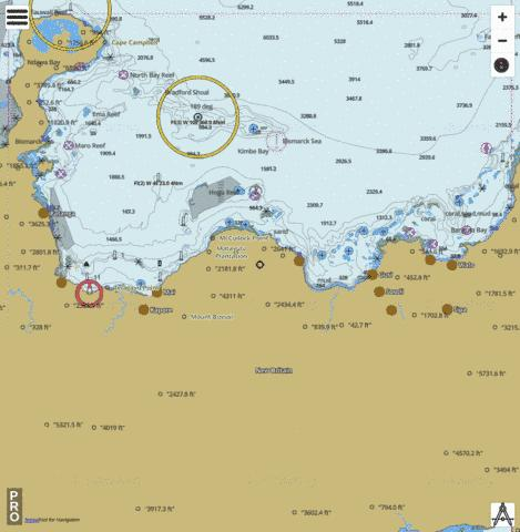 Bismarck Sea - Bangula Bay to Willaumez Peninsula Marine Chart - Nautical Charts App