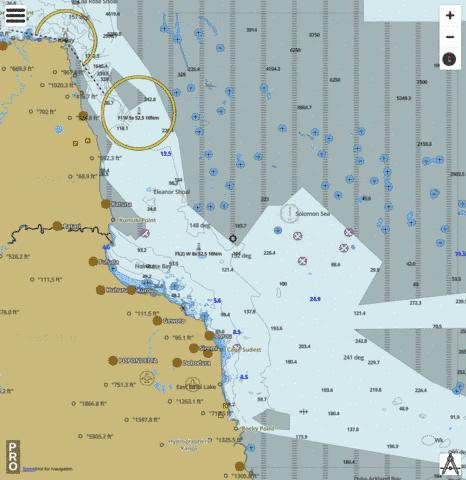 Papua New Guinea - North East Coast - Oro Bay to Cape Ward Hunt Marine Chart - Nautical Charts App