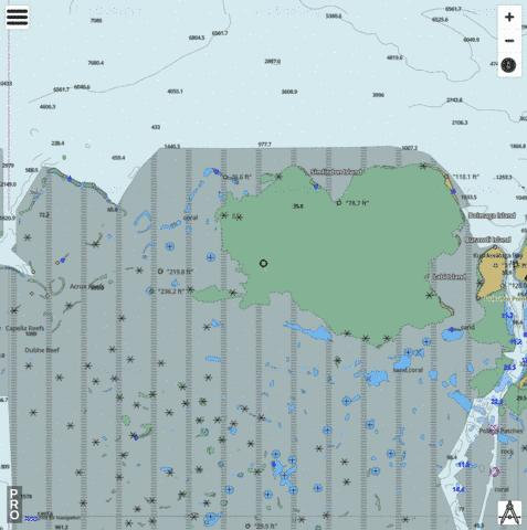 Solomon Sea - Lusancay Islands and Reefs Marine Chart - Nautical Charts App