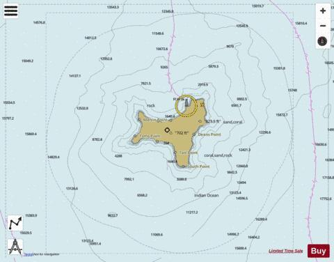 Indian Ocean Christmas Island Marine Chart Au Au411105