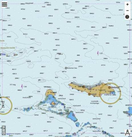 Solomon Sea - Renard Island to East Island Marine Chart - Nautical Charts App