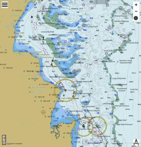 Australia - Queensland - Great Barrier Reef - Sherrard Island to Cape Grenville Marine Chart - Nautical Charts App