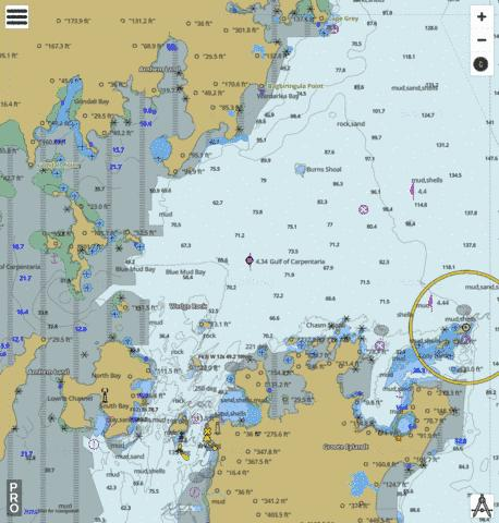Northern Territory - Groote Eylandt to Cape Grey Marine Chart - Nautical Charts App