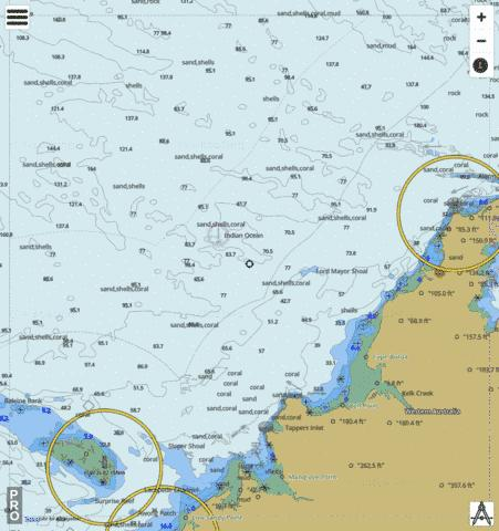 Western Australia - Cape Leveque to Lacepede Islands Marine Chart - Nautical Charts App
