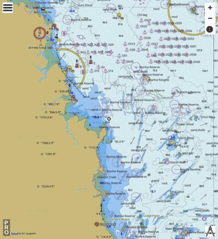 Great Barrier Reef - Broad Sound to Cumberland Islands Marine Chart - Nautical Charts App